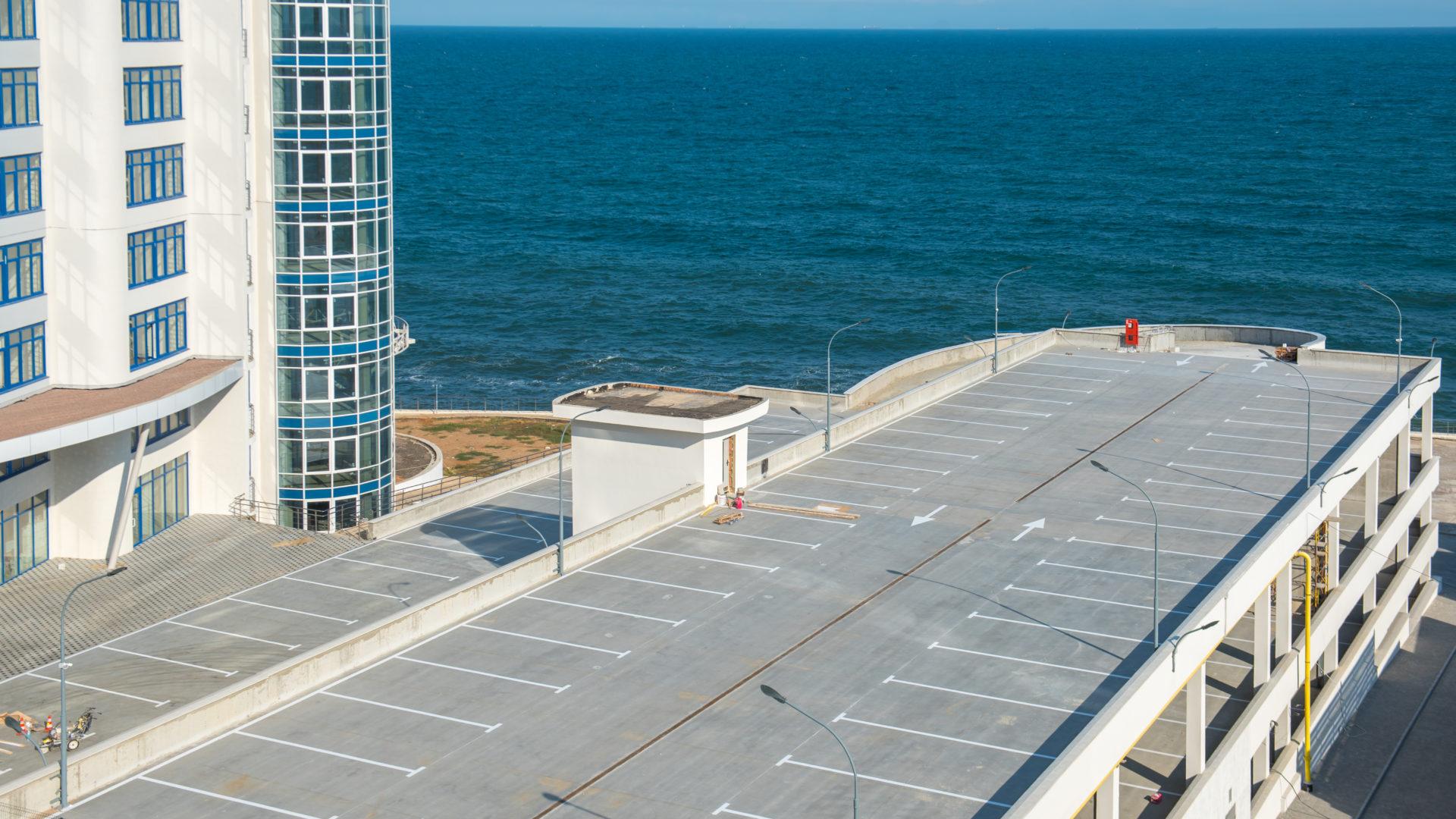 Надземный четырехуровневый паркинг